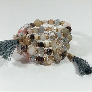 Jewelry - 3/$25 ❤️ tassel wrap bracelet•